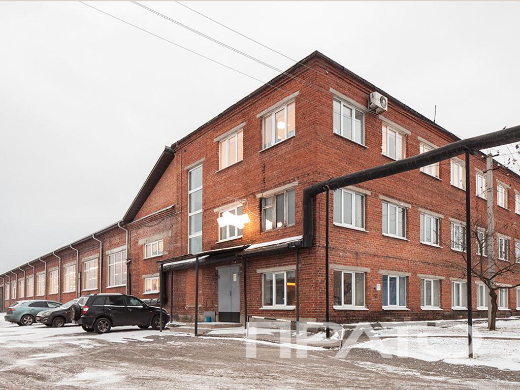 Здание ПРАТО, Сергиев Посад, кирпичное здание, парковка, офис, проходная