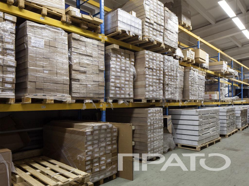 Склад готовой продукции и материалов ООО ПРАТО, Сергиев Посад, паллета, распределение грузов, хранение, стеллаж, товары