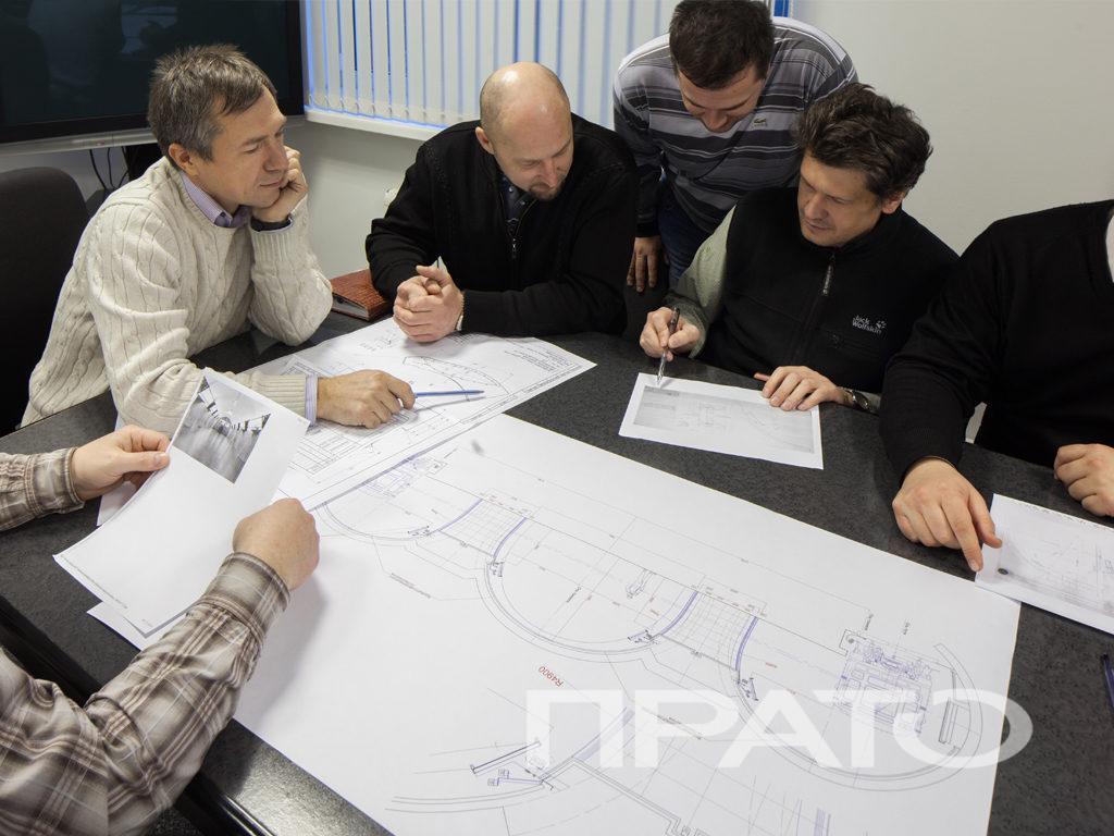 Обсуждение проекта ООО ПРАТО - Сергиев Посад, чертежи, стол, команда